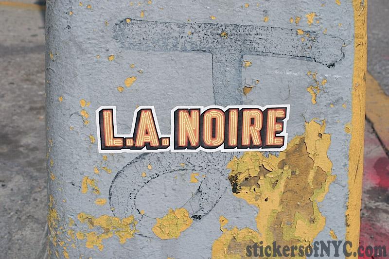 La Noire Sticker